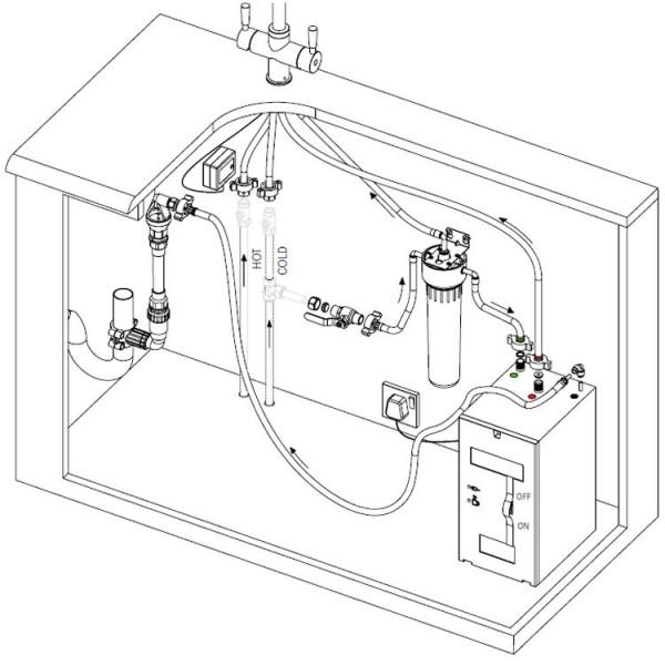 FRANKE maisītāja ūdens uzsildes boileris 4l 3