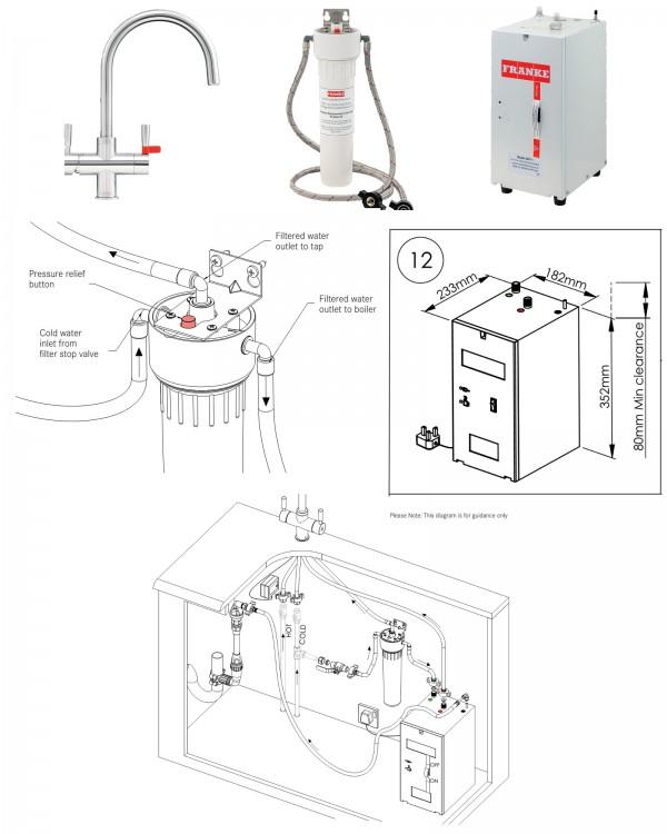 FRANKE maisītāja ūdens uzsildes boileris 4l 4