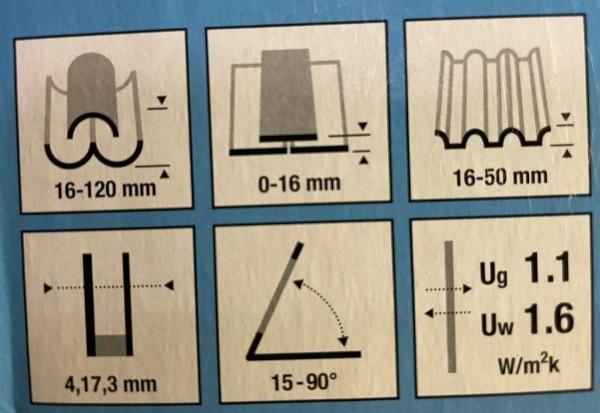 TYREM PVC APX C2A B700 logs 550x780mm (ar pieslēgumu viļņotam jumta segumam) 5
