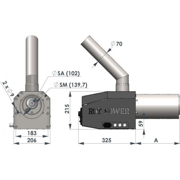 KIPI ROT-POWER 16kw paštīrošais granulu deglis 2