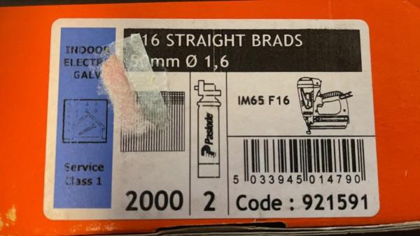 PASLODE 1,6x50mm naglas 921591 2