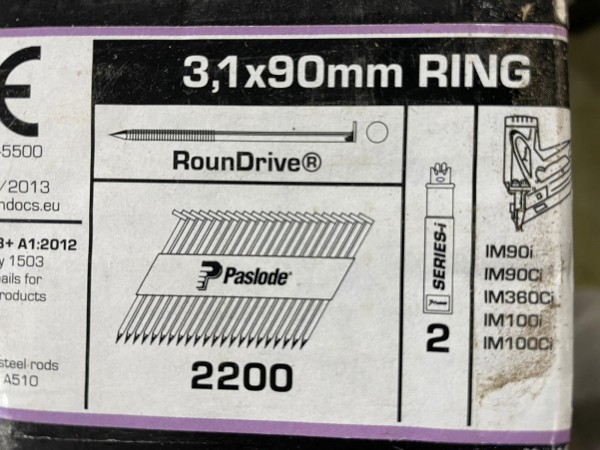 PASLODE 3,1x90mm naglas 141074 2