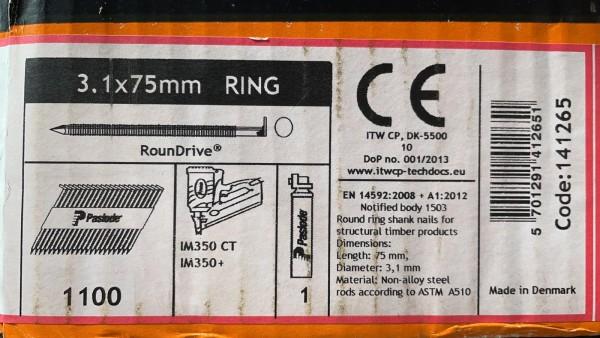 PASLODE 3,1x75mm naglas 141265 2