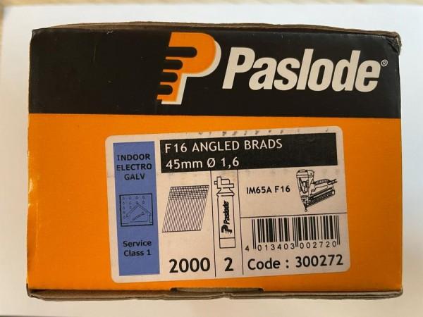 PASLODE F16 1,6x45mm elektrogalvanizētas naglas 300272 2