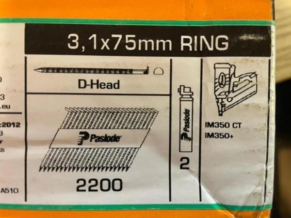 PASLODE 3,1x75mm naglas 141226 2