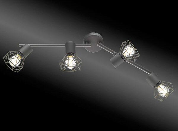 Ran E14, grau, Fischer & Honsel griestu lampa 3
