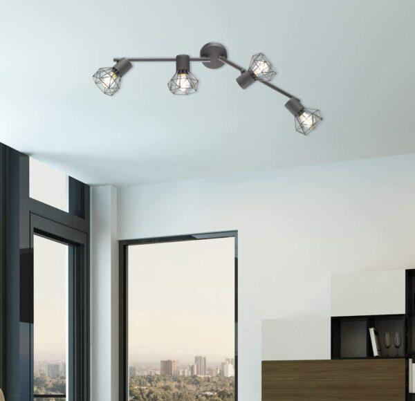 Ran E14, grau, Fischer & Honsel griestu lampa 2