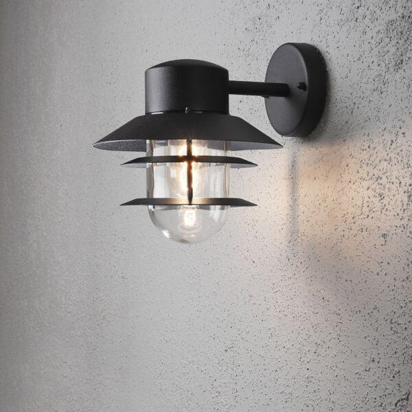 Modena sienas lampa Matt Black 7310-750 2