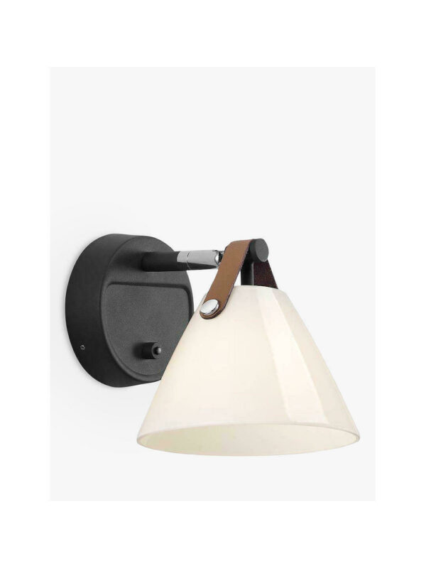 Design for the People Strap 15 Glass Noir sienas lampa 1