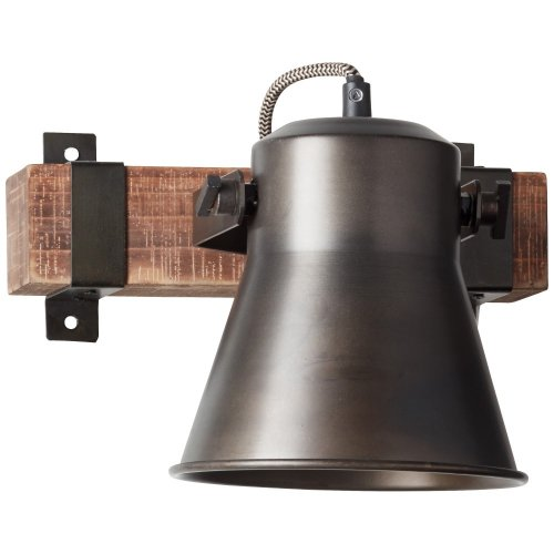 Brilliant Plow sienas lampa Black 1