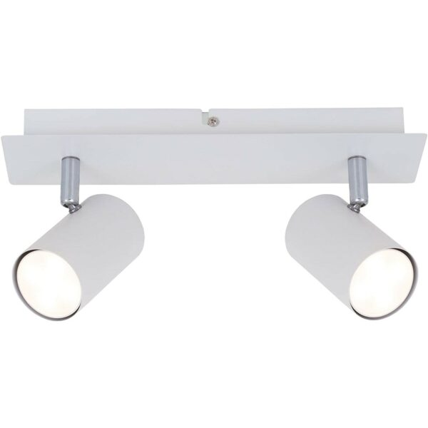 RUN - 2 lights - Spots Rotatable and tiltable - GU10 - White griestu lampas 1