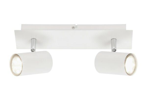 RUN - 2 lights - Spots Rotatable and tiltable - GU10 - White griestu lampas 3