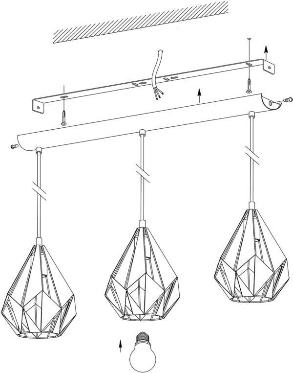 EGLO CARLTON 1 griestu lampa 49991 5