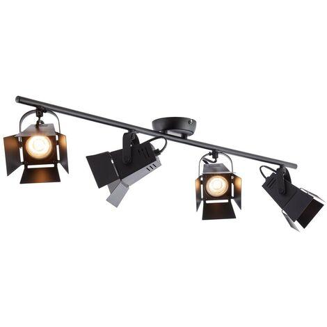 Brilliant Movie LED black, 4-light sources griestu lampa 2