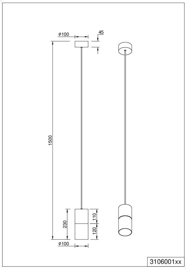 Trio Robin 310600132 griestu lampa 3