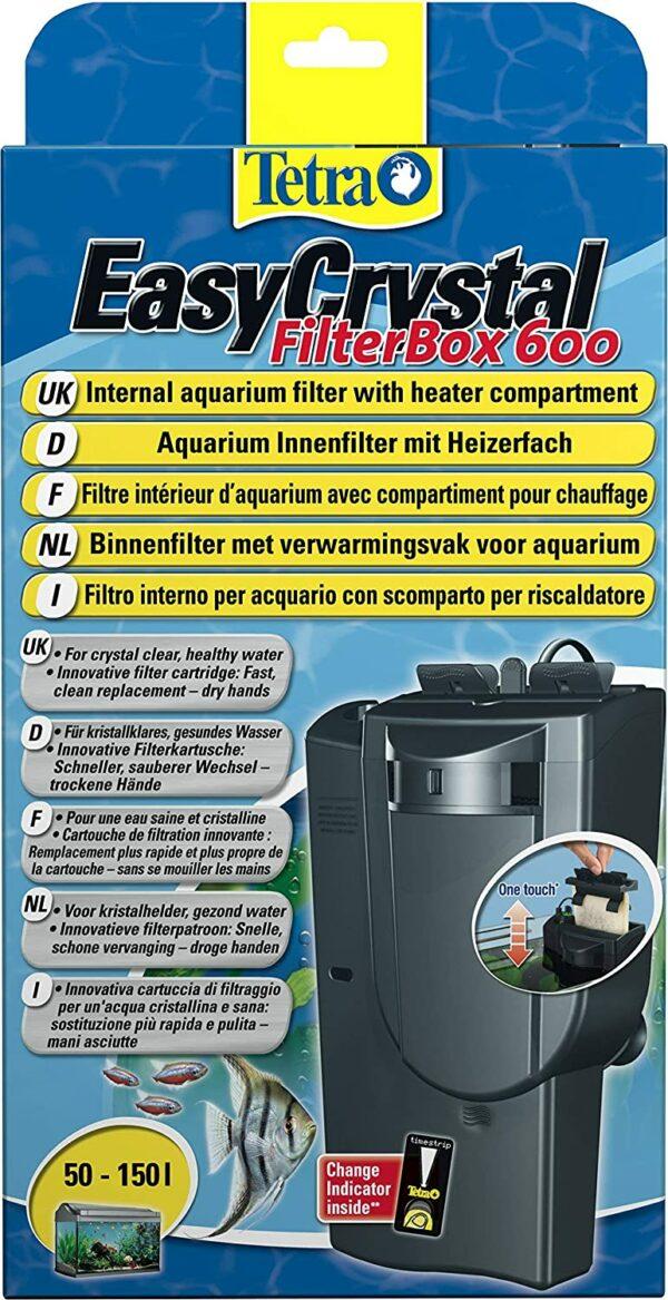 Tetra Easycrystal Filterbox 600 akvārija komplekts 1