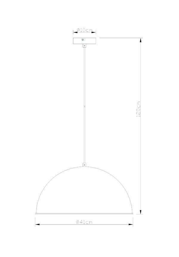 Globo griestu lampa Xirena I 58307H 2