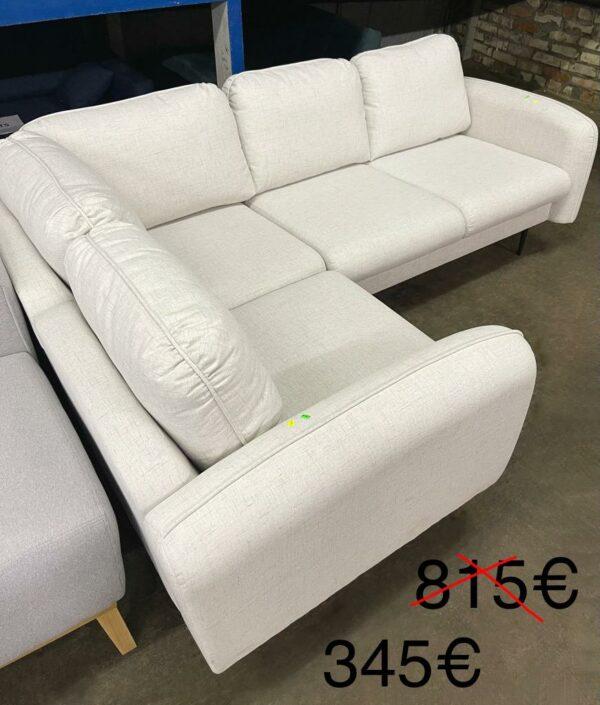 Stūra dīvāns (balts) 1