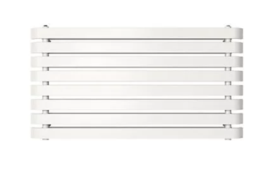 Wilsona dizaina horizontālais radiators (balts) (W)1200mm (H)620mm 1
