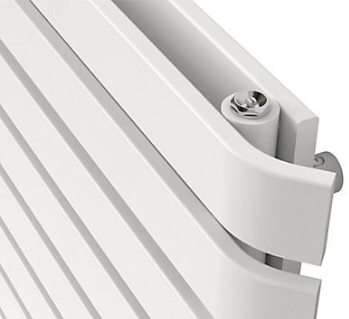 Wilsona dizaina horizontālais radiators (balts) (W)1200mm (H)620mm 3