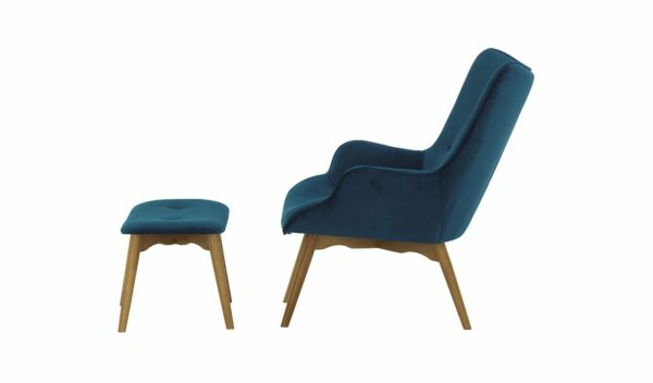 Ducon atzveltnes krēsls ar puffu (tumši zils) 3