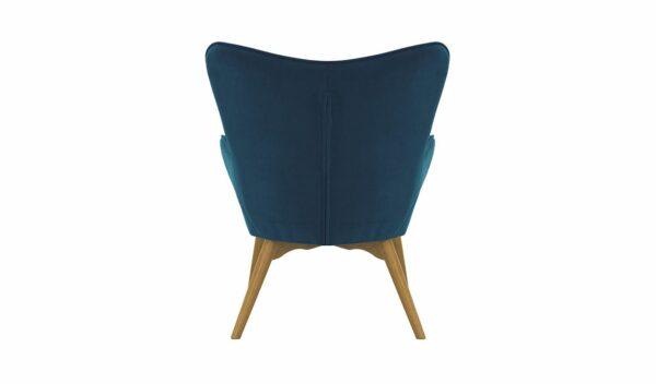 Ducon atzveltnes krēsls ar puffu (tumši zils) 4