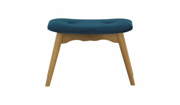 Ducon atzveltnes krēsls ar puffu (tumši zils) 5