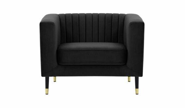 Slender vienvietīgais krēsls (melns) 1