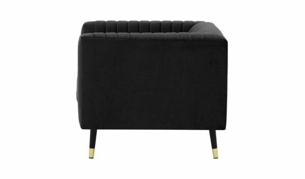Slender vienvietīgais krēsls (melns) 3