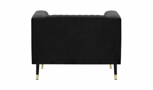 Slender vienvietīgais krēsls (melns) 4